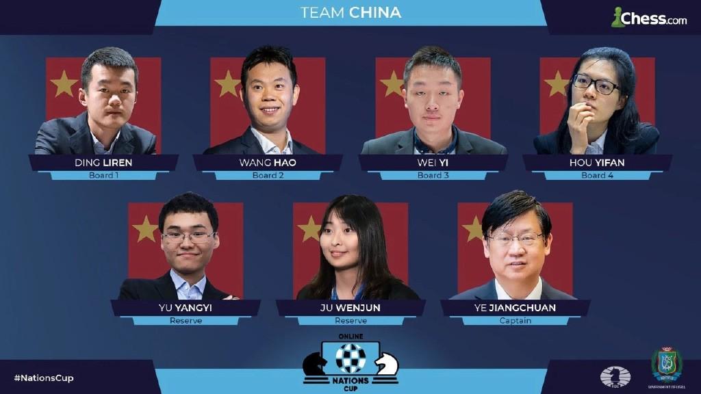 国际棋联国家杯团体赛网上开赛 中国队两连胜暂居榜首_图1-1