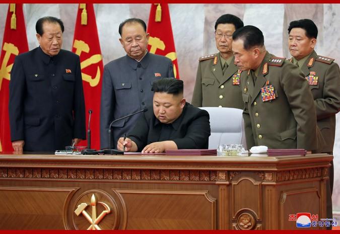 朝鲜中央军委会议:巩固核战争遏制力 金正恩签署7项命令