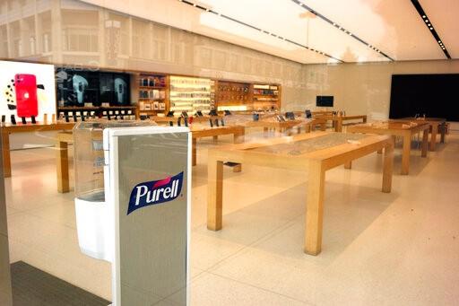 苹果将重开约100家美国门店 进店购物这些新规要知道_图1-3