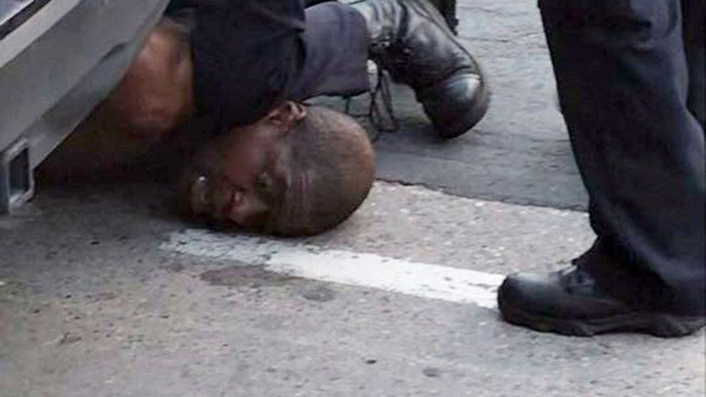 """哭喊5分钟""""无法呼吸"""" 明州非裔被拘时惨死 四警员被解雇_图1-1"""