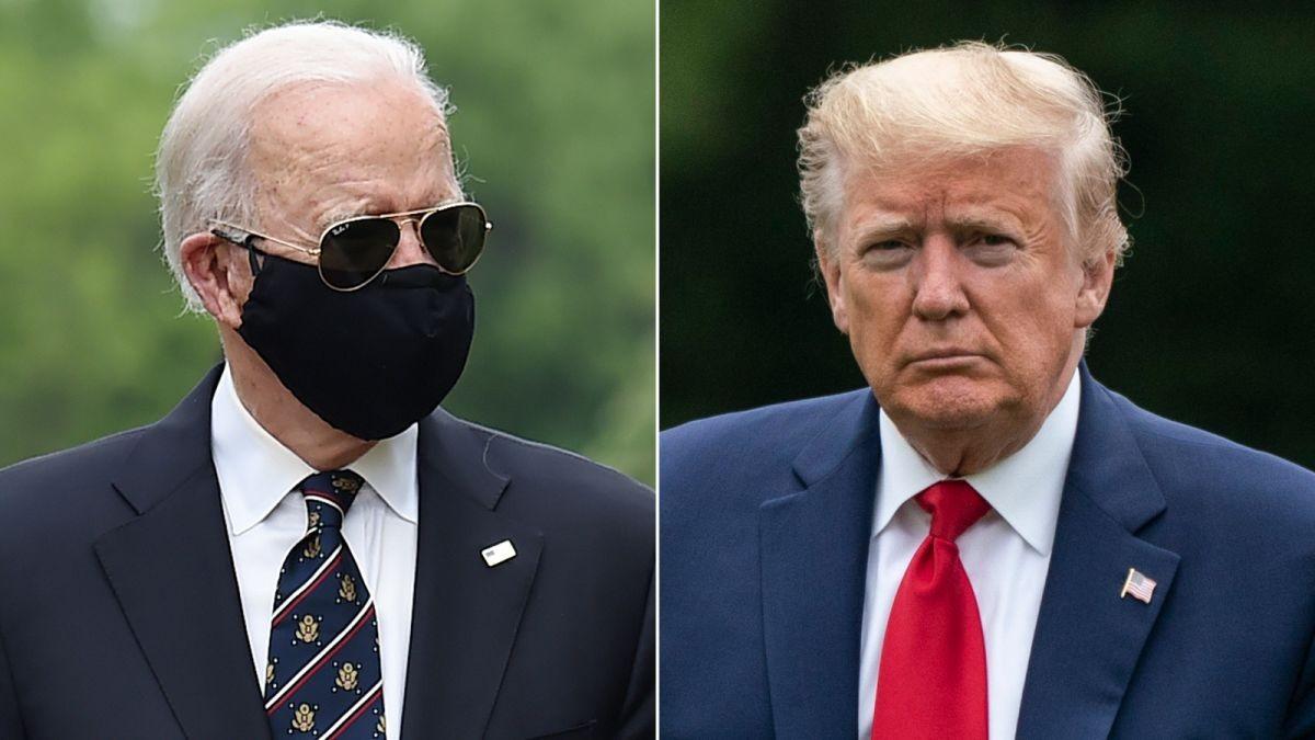 川普转发嘲笑拜登戴口罩推特 拜登:绝对的白痴_图1-1