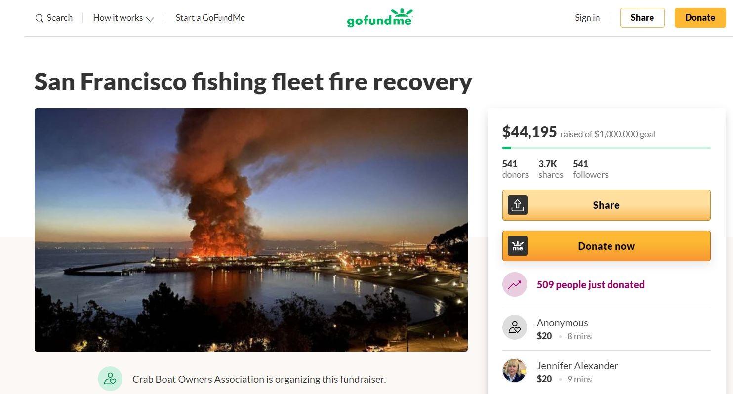 旧金山45号码头火灾 渔民损失数百万设备_图1-5