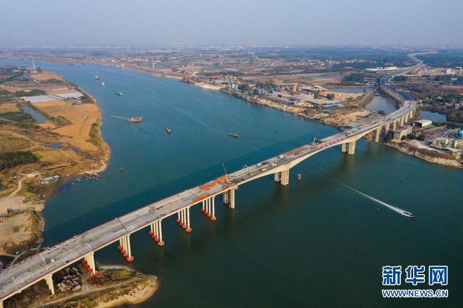 广佛肇高速北江特大桥合龙 大湾区再添交通大动脉