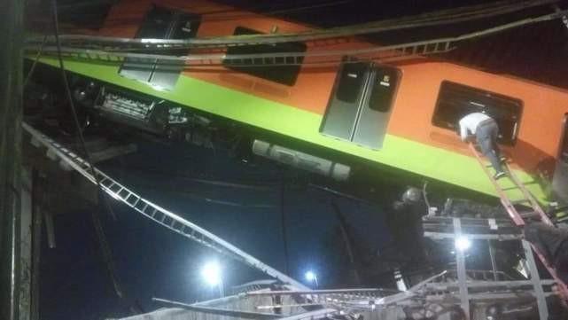 墨西哥一轨道交通设施坍塌已致23人死亡_图1-3