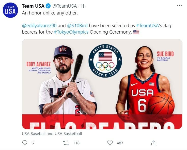 谁将在东京奥运会上担任美国旗手?人选终于定了_图1-4