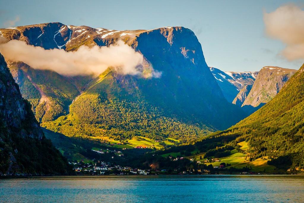 北欧风光,湖中环游