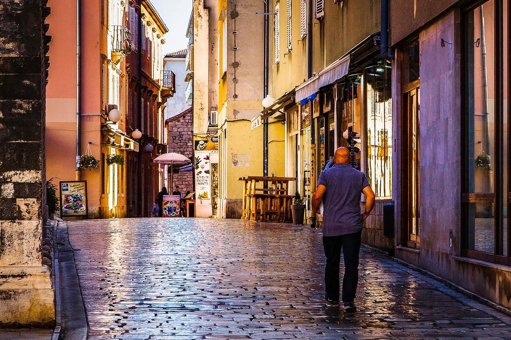 克罗地亚扎达尔(Zadar),街边