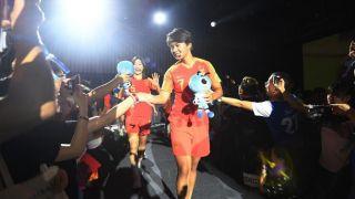 结束世界杯赛程 中国女足在浙江杭州举行见面会
