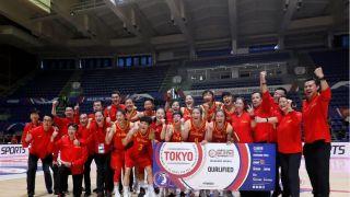 中国女篮击败西班牙队 两连胜提前收获奥运席位