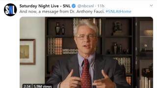 布拉德·皮特上SNL扮演福契 批驳川普新冠错误言论