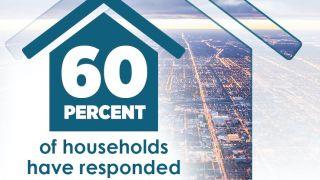 60%的美国家庭已经完成了2020年人口普查