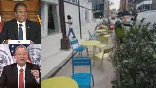 纽约7地餐馆今起可户外用餐 纽约市也欲效仿但困难重重