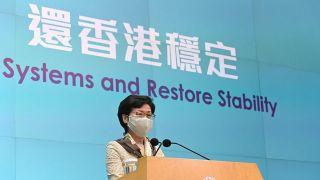 林郑月娥:香港需要稳定,港区国安法回应市民期望