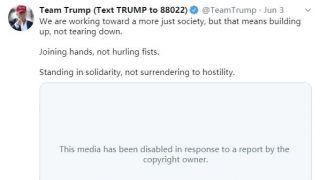 又双叒叕对川普出手 Twitter因版权投诉删总统竞选视频