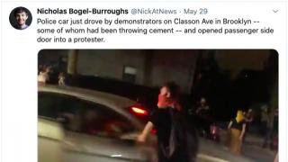 行驶中突开车门撞击抗议者 又一纽约警察被处分