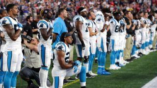 允许球员奏国歌时下跪 川普:我不看NFL和美国足球了