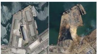 贝鲁特爆炸前后惊人对比 附近仓库被夷为平地(多图)