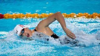 中国全国游泳冠军赛王简嘉禾破亚洲纪录 却无缘决赛