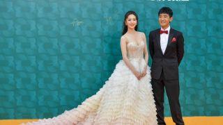 海南岛国际电影节闭幕红毯仪式 章子怡成龙佟丽娅亮相