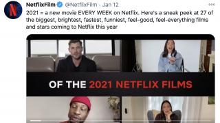 铆足劲PK电影院 Netflix今年每周上线一部新电影
