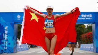 中国选手打破女子20公里竞走世界纪录