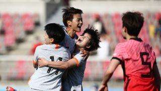 奥预赛附加赛 中国女足客场2-1韩国
