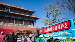 北京新冠疫苗移动接种车开抵故宫东华门