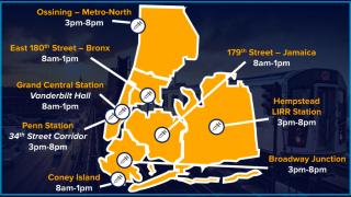 纽约市推出地铁站快闪式疫苗接种点 可领免费地铁卡