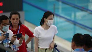 吴敏霞现身中国跳水冠军赛