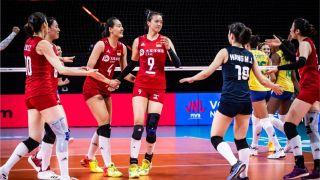 终结四连败!中国女排3-2击败全主力巴西