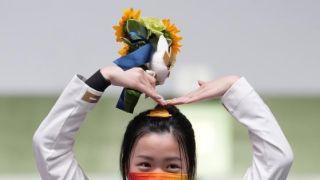 比心!杨倩夺东京奥运首金:最后一枪特别紧张,不知自己夺金了
