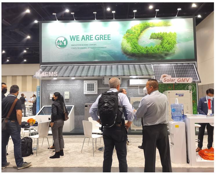 格力KINGHOME和格力GMV太阳能空调独特高科技风靡北美绿建展会